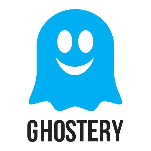 logo de l'outil Ghostery qui représente un fantôme bleu qui sourit
