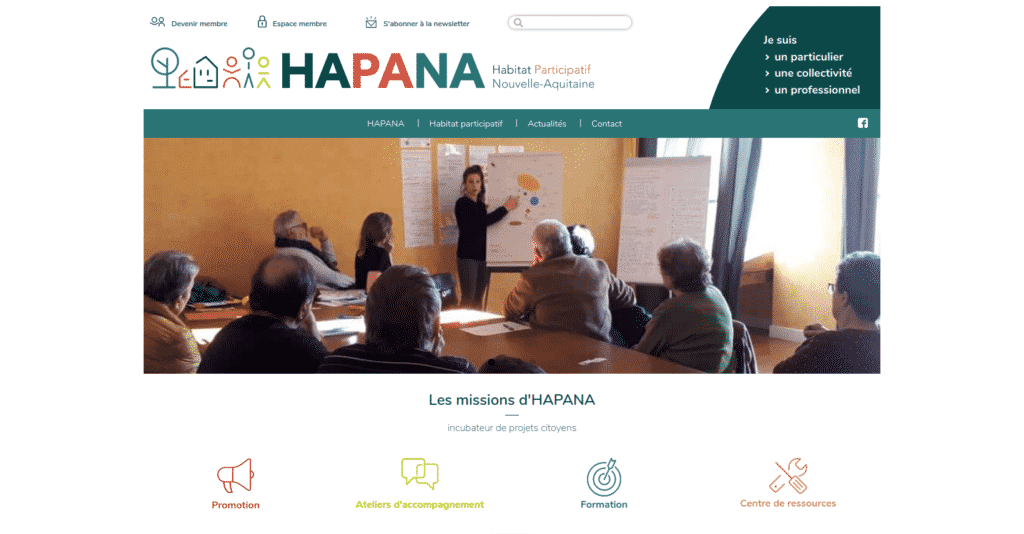 HAPANA page d'accueil