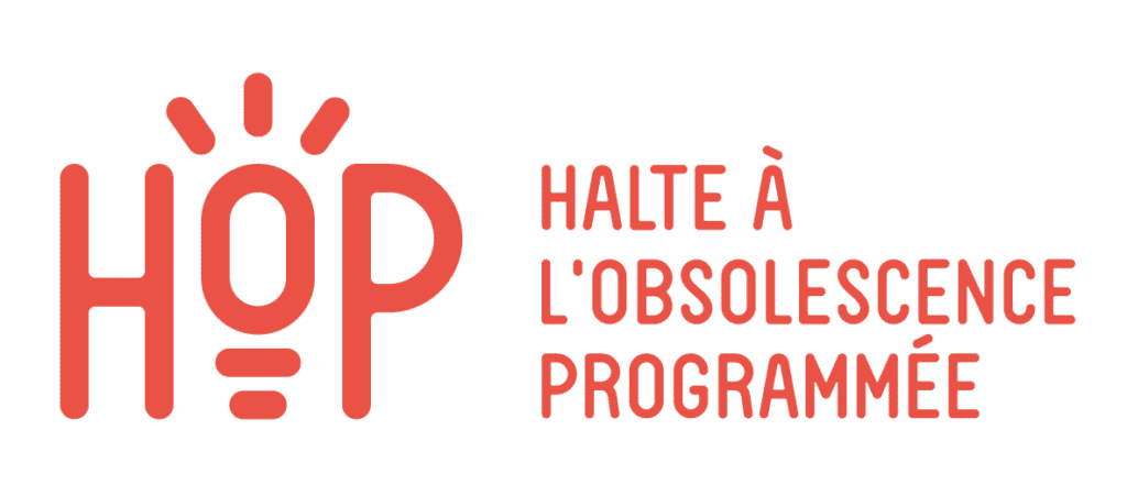 logo de l'association HOP - Halte à l'Obsolescence Programmée