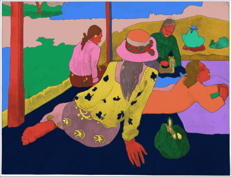 gauguin colorié et revisité avec l'appli google arts & culture